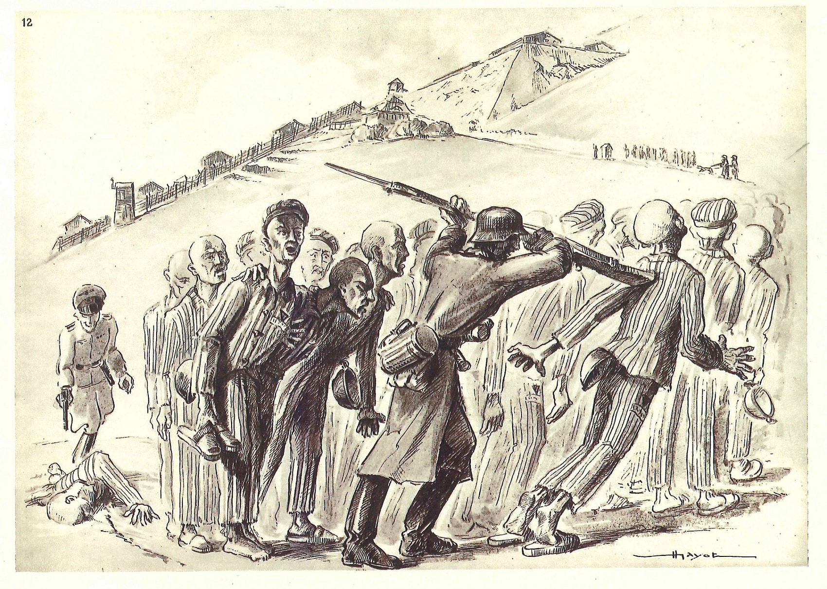 Groupe se rendant au travail- Henri Gayot